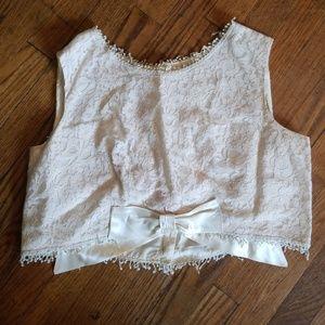Vintage lace crop